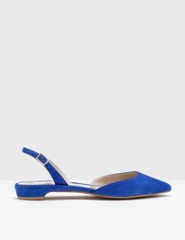 Bright Blue Cecelia Slingback Flats