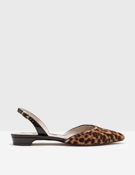 Tan Leopard Cecelia Slingback Flats