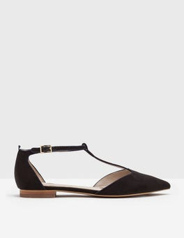 Black Angelica T-Bar Flats