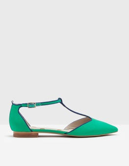 Meadow Green Angelica T-Bar Flats