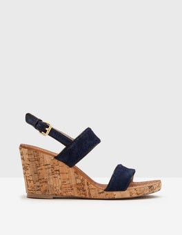Navy Louisa Wedge