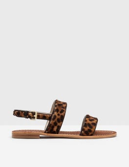Tan Leopard Louisa Sandals