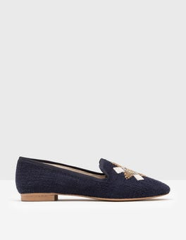 Imperial Blue Maritime Slipper Shoe