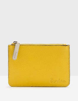 Mimosa Yellow Leather Coin Purse