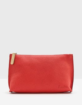 Strawberry Sundae Leather Pouch