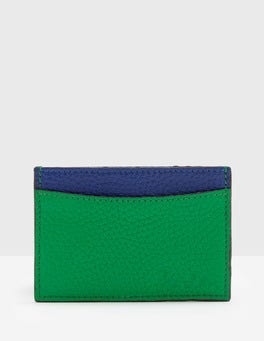 Meadow Green Leather Ticket Holder