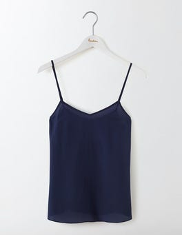 Navy Silk Cami