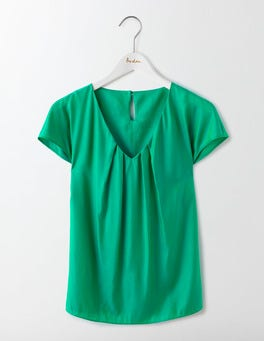 Meadow Green V-neck Ravello