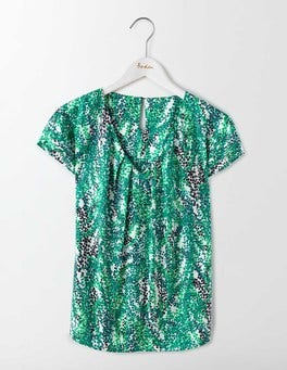 Meadow Green Wisteria V-Neck Ravello