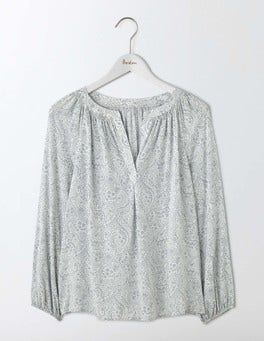 Pebble Mono Paisley Dolly Top