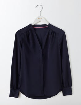 Navy Olive Blouse