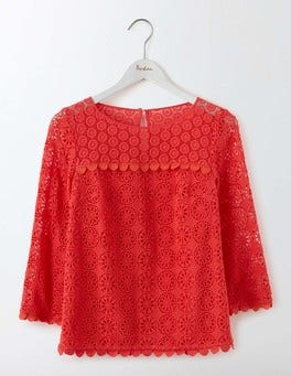 Strawberry Sundae Poppy Lace Top