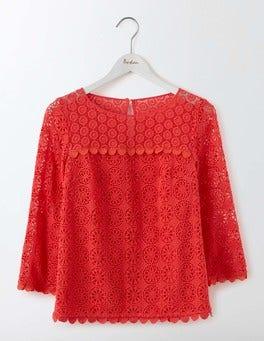 Strawberry Sundae Poppy Lace Top