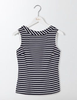 Navy and Ivory Stripe Martha Top