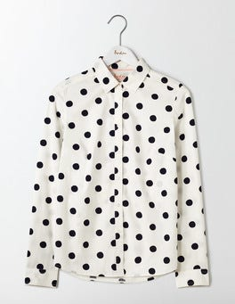Ivory/Navy Spot The Classic Shirt
