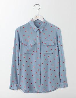 Vintage Blue Spot The Silk Shirt