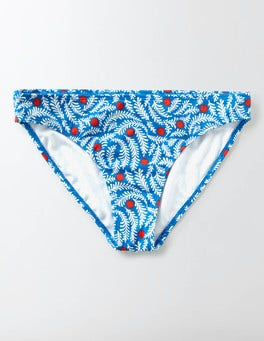 China Blue Floral Vine Pop Mix & Match Bikini Bottoms