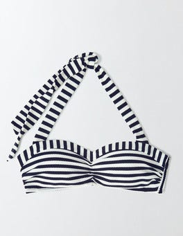 Navy/Ivory Stripe Rimini Stripe Bikini Top