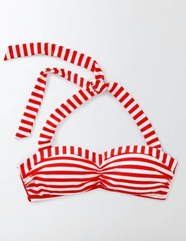 Snapdragon/Ivory Stripe Rimini Stripe Bikini Top