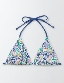 Multi Paisley String Bikini Top