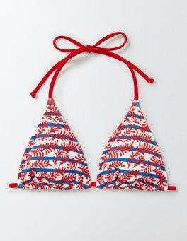 Snapdragon Floral Vine Stripe String Bikini Top