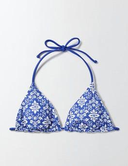 Island Sapphire/Collage Print Corsica Reversible Bikini Top