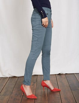 Blue Grey Brighton Biker Skinny Jeans