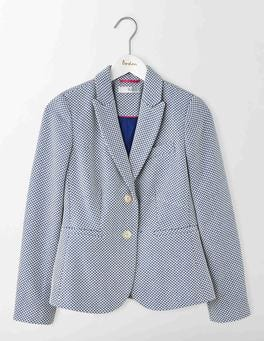 Imperial Blue Elizabeth British Tweed Blazer