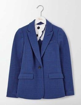 Imperial Blue Emilia Ponte Jacquard Blazer