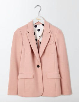 Pink Pearl Emilia Ponte Jacquard Blazer