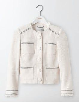 Ivory Elise Pocket Jacket