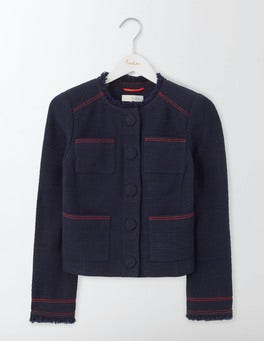 Navy Elise Pocket Jacket