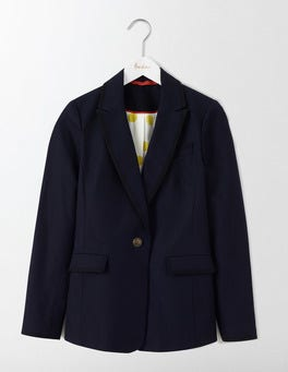 Navy Ellen Cotton Blazer