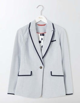 Ticking Stripe Ellen Cotton Blazer