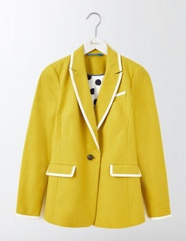 Mimosa Yellow Ellen Cotton Blazer