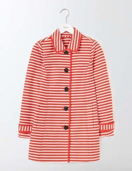 Snapdragon/Ivory Stripe Constance Striped Coat