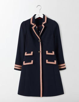 Navy Ella Military Coat