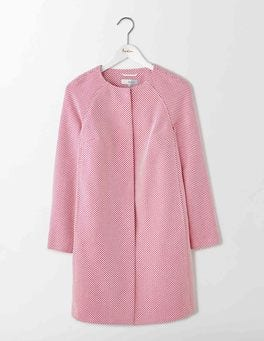 Mid Pink Sienna Textured Coat