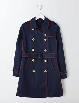 Navy with Red Abingdon Trench