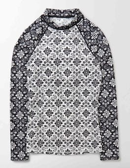 Ivory Collage Rash Vest