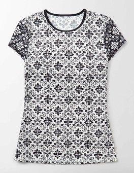 Ivory Collage Cap Sleeve Rash Vest