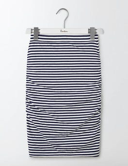 Navy/Ivory Ruched Skirt