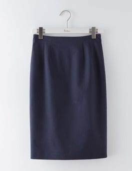 Navy Richmond Pencil Skirt