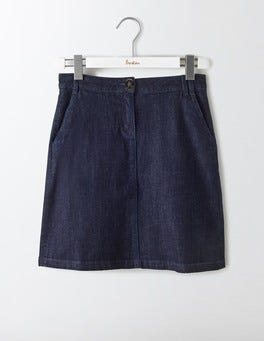 Indigo Denim Naomi A-Line Skirt