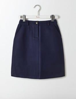 Navy Naomi A-Line Skirt