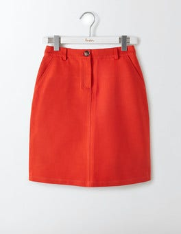 Snapdragon Red Naomi A-Line Skirt