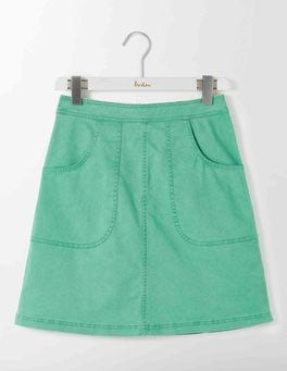 Wasabi Green Rachel Chino Skirt
