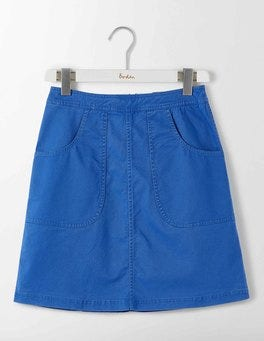 Santorini Blue Rachel Chino Skirt
