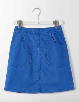 Santorini Blue Rachel Chino Skirt