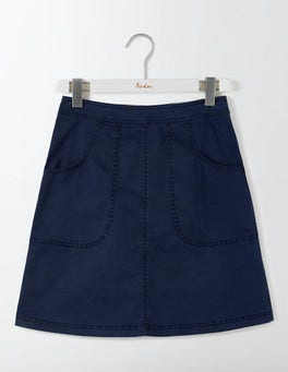Navy Rachel Chino Skirt